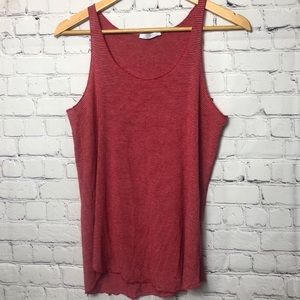 Zara Collection Racerback Tank Top Red Striped M